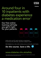 NHS Diabetes poster 2: 4 in 10 diabetes patients have a medication error