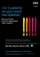 NHS Diabetes poster 1: About 1 in 5 of your patients have diabetes
